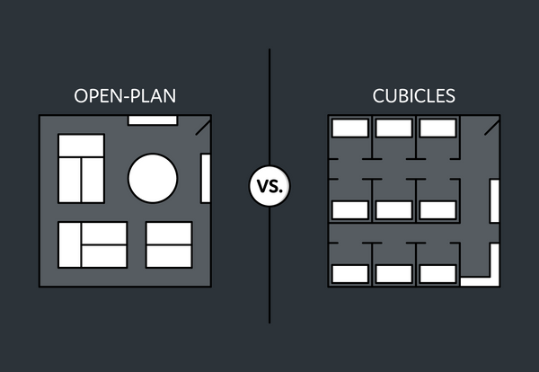 Friday face-off: open plan office vs. cubicles